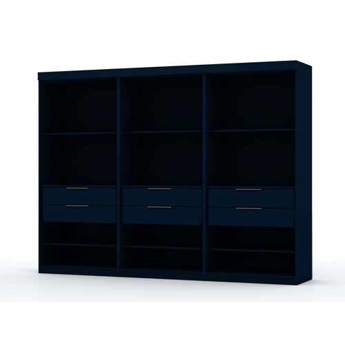 Blue Three Sectional Six Drawers Armoires