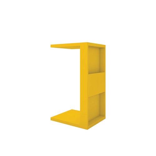 Marine Yellow End Table with Magazine Shelf
