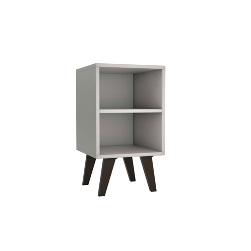 White 13-Inch Two-Shelves Nightstand