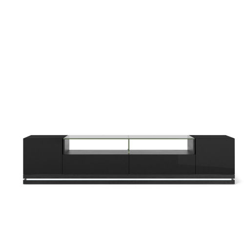 Black Gloss and Black Matte 85-Inch TV Stand