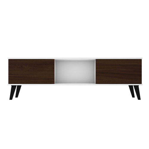 Doyers White and Nut Brown TV Stand