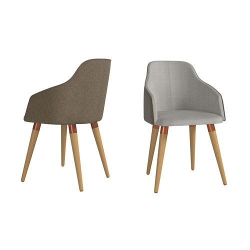Martha Grey Accent Chair, Set of 2