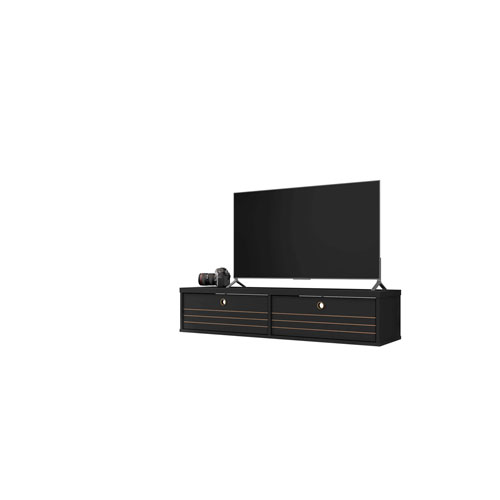 Liberty Black Two-Shelves Floating Entertainment Center