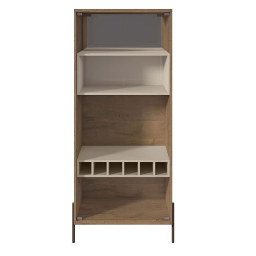 Gloss and Pro Touch Six-Bottle Wine Cabinet with Four-Shelves