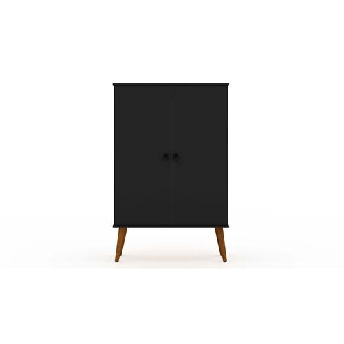 Tribeca Black Shoe Closet with Adjustable Shelves