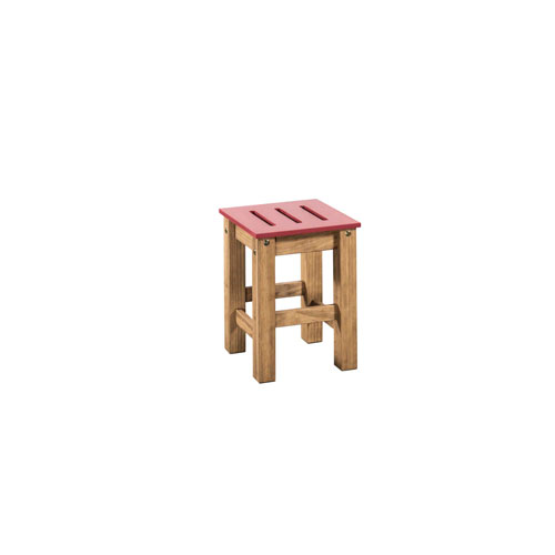 Stillwell Red Two-Piece Barstool