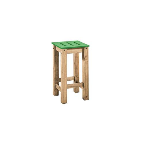 Stillwell Green Two-Piece Barstool