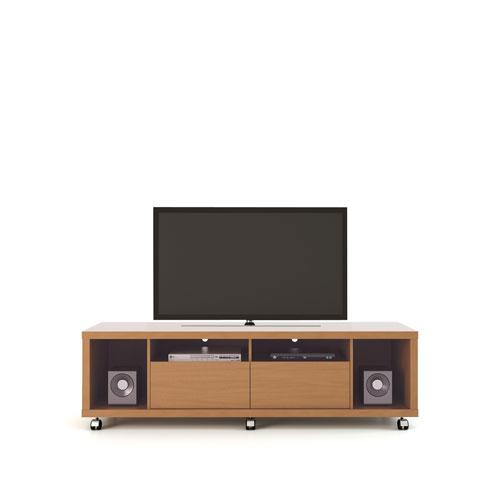 Manhattan Comfort Cabrini TV Stand 1.8 in Maple Cream and Nude