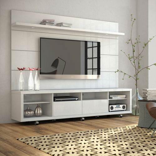Cabrini White Gloss TV Stand and Panel