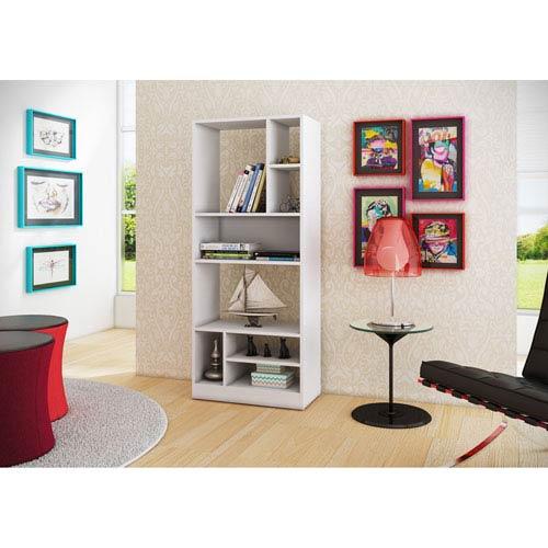 Valenca White Bookcase