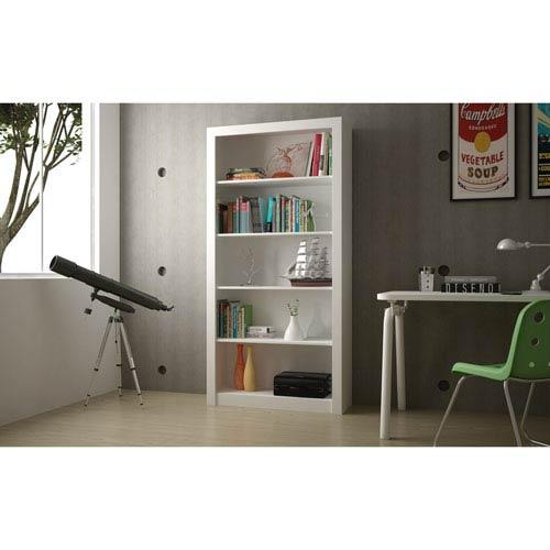 Olinda White Bookcase