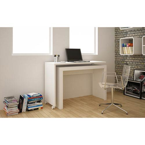 Calabria White Nested Desk