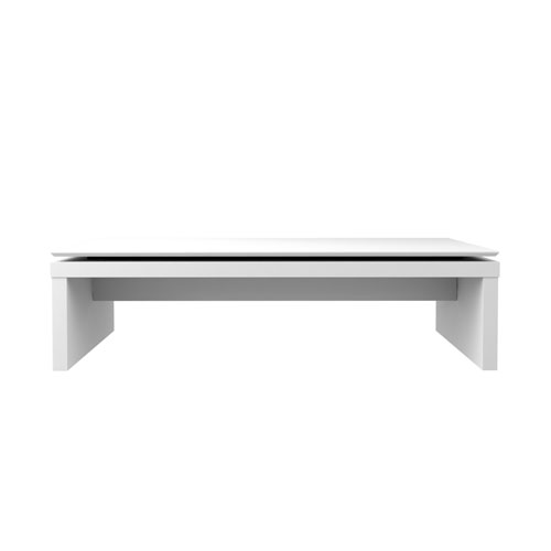 Lincoln Rectangle Coffee Table in White Gloss and Maple Cream