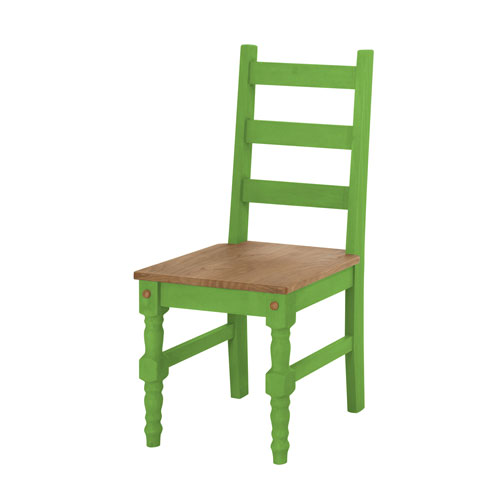 Jay Set of 2 Solid Wood Dining Chair in Green Wash