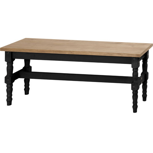 Manhattan Comfort Jay 47-Inch Solid Wood Dining Bench in Black Wash