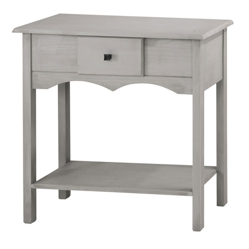Manhattan Comfort Jay 31.5-Inch Tall Sideboard with 1 Full Extension Drawer in Gray Wash