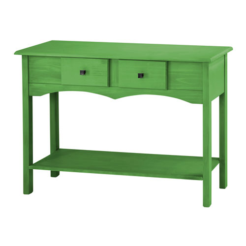 Jay 49-Inch Entryway Table with 2 Full Extension Drawers in Green Wash