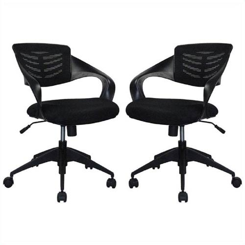Grove Black Mid-Back Office Chair, Set of 2
