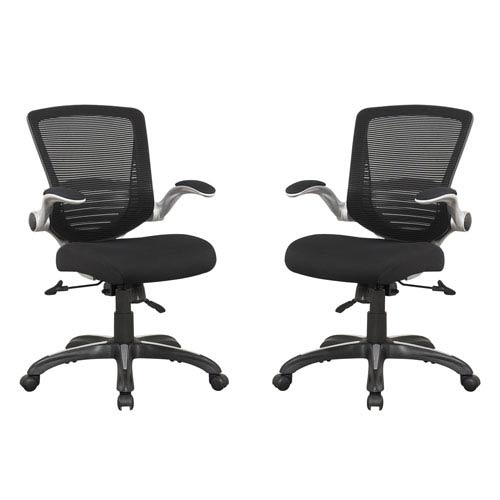 Walden Black Office Chair, Set of 2