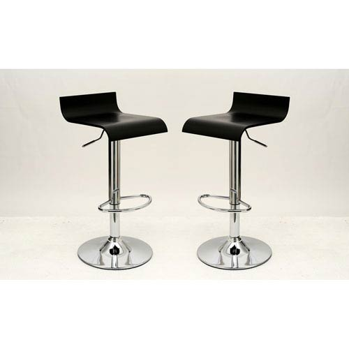 Ludlow Black Bar Stool, Set of 2