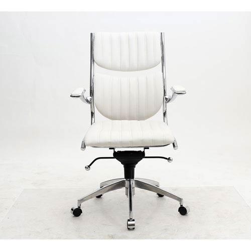 Verdi White High-Back Verdi Office Chair