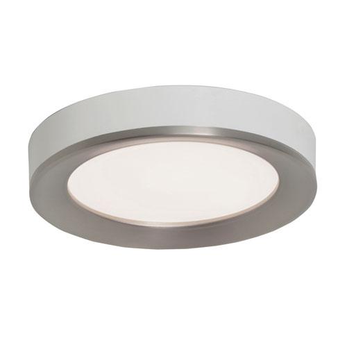 AFX Alta Satin Nickel and White 16-Inch LED Flush Mount