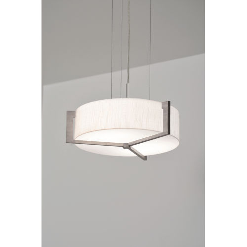 Apex Weathered Gray 17-Inch LED Pendant with Jute Shade