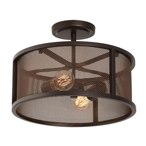 Austin Bronze Two-Light LED Semi Flush Mount