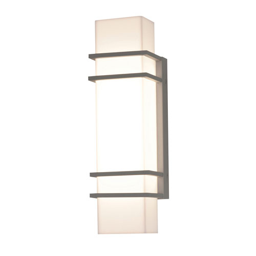 Blaine Textured Grey 16-Inch 120/277V LED Outdoor Wall Sconce