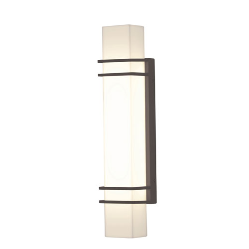 Blaine Textured Oil Rubbed Bronze 23-Inch 120/277V LED Outdoor