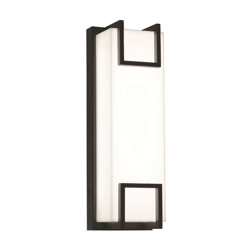 AFX Beaumont Textured Oil Rubbed Bronze 15-Inch 120/277V LED Outdoor