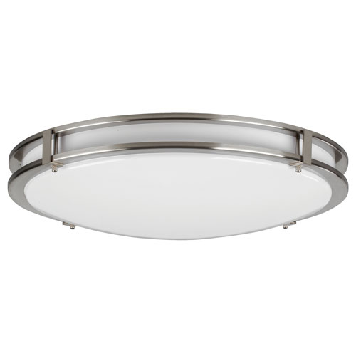 Carlisle Satin Nickel 35W 3000K LED Energy Star Flush Mount