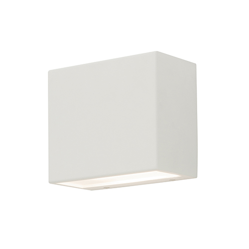 AFX Dakota White Four-Inch LED ADA Compliant Outdoor Wall Sconce