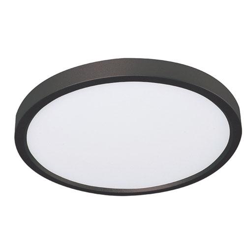 Edge Black LED Flush Mount