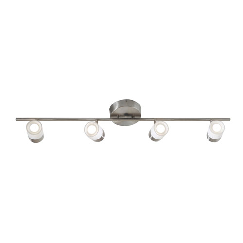 AFX Gramercy Satin Nickel Four-Light LED Energy Star Track Light