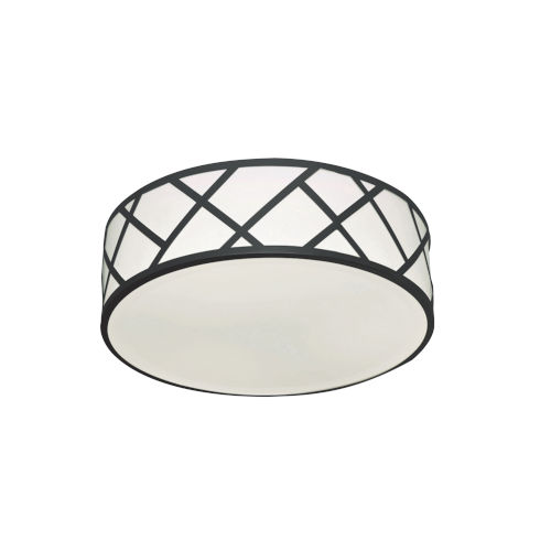 Haven Black Three-Light LED Flush Mount