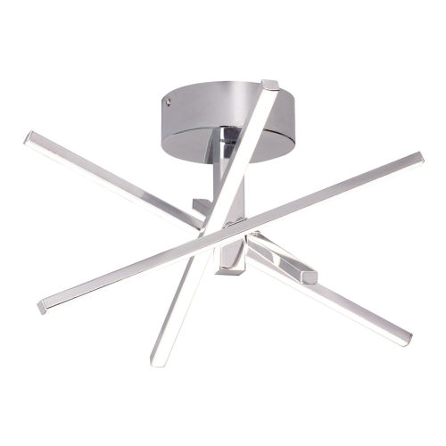 Jaxx Polished Chrome LED Semi Flush Mount