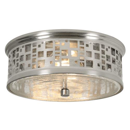 Roscoe Satin Nickel Two-Light LED Flush Mount