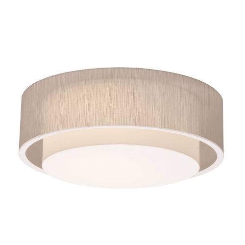 Sanibel White 23-Inch LED Flush Mount with Jute Shade