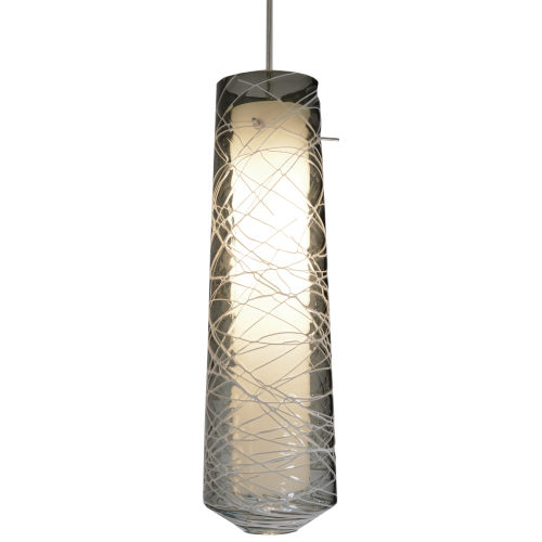 Spun Satin Nickel 4000K 120-227V LED Mini Pendant with Smoke Shade