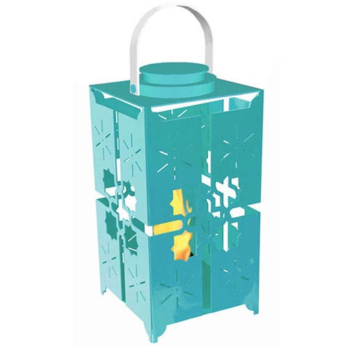 Forever Patio Istanbul Lantern with Lid in Turquoise