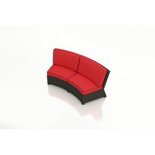 Barbados Ebony Curved Sofa