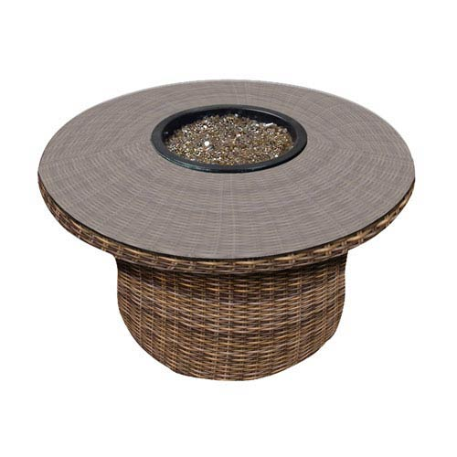 Cypress Heather Round Fire Table