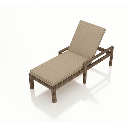 Cypress Single Adjustable Chaise Lounge with Arms