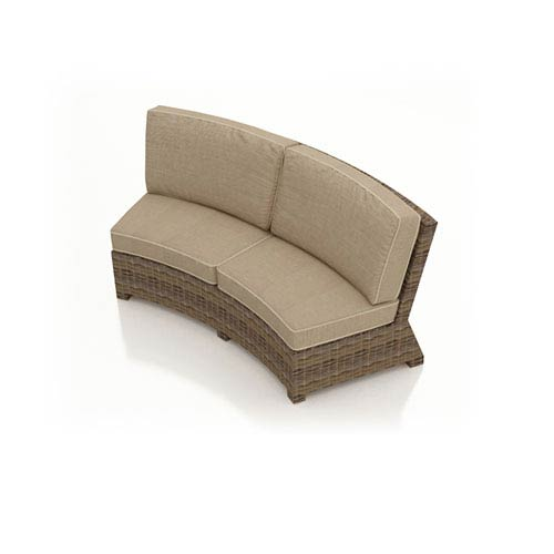 Cypress Heather Curved Sofa