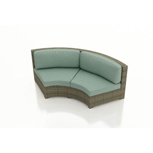 Hampton Heather Radius Curved Loveseat