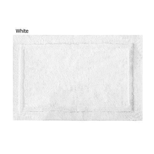 Asheville White Organic Cotton 17-Inch x 24-Inch Bath Rug
