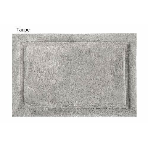 Asheville Taupe Organic Cotton 17-Inch x 24-Inch Bath Rug