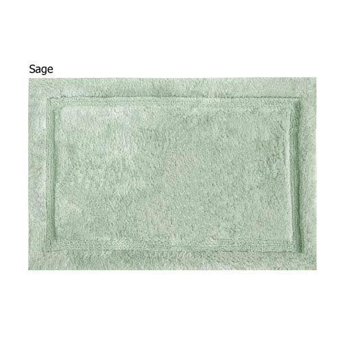 Asheville Sage Organic Cotton 17-Inch x 24-Inch Bath Rug