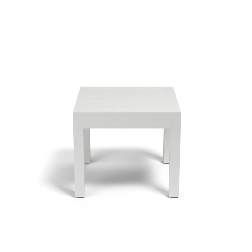 Naples Frost White Outdoor End Table